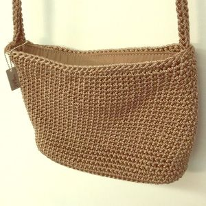 The Sak crocheted small shoulder bag- like new!